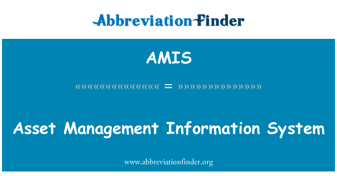 AMIS: Asset Management Information System
