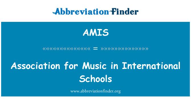 AMIS: Association for Music in International Schools