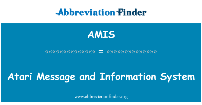 AMIS: Atari Message and Information System