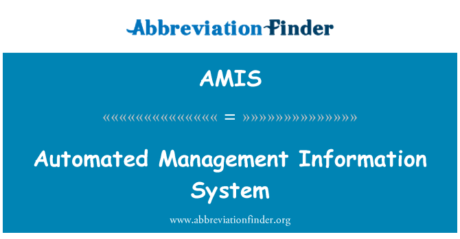 AMIS: Automated Management Information System