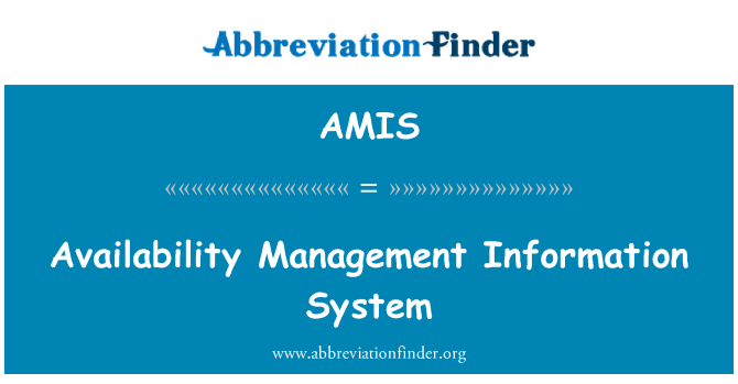 AMIS: Availability Management Information System