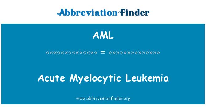 AML: Acute Myelocytic Leukemia