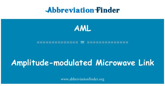 AML: Amplitude-modulated Microwave Link