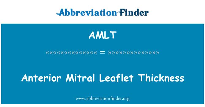 AMLT: Anterior Mitral Leaflet Thickness