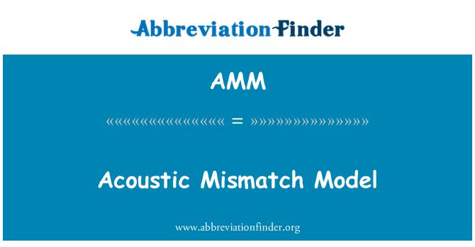 AMM: Acoustic Mismatch Model