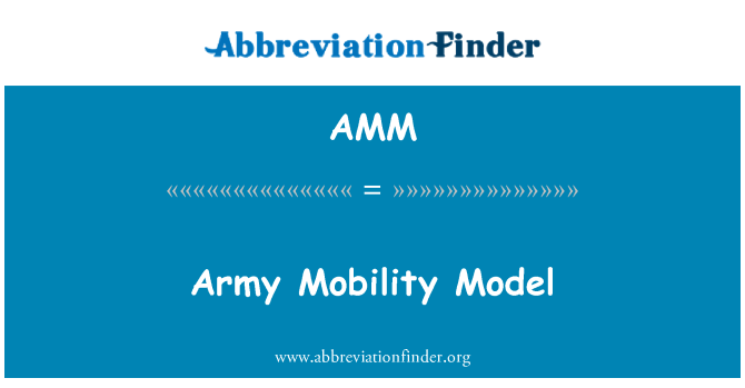 AMM: Army Mobility Model