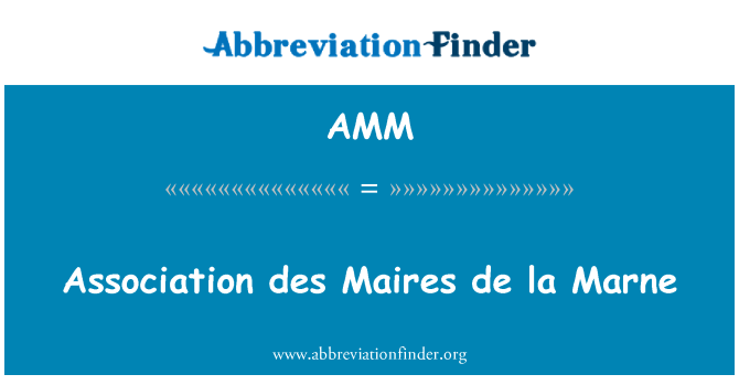 AMM: Association des Maires de la Marne