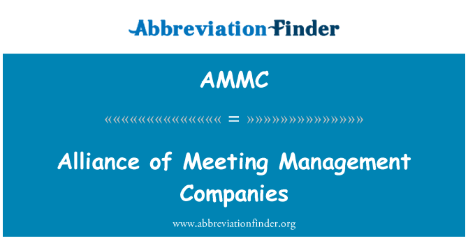 AMMC: Alliance of Meeting Management Companies