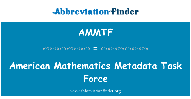 AMMTF: Američki matematike metapodataka odred