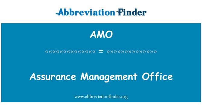 AMO: Assurance Management Office
