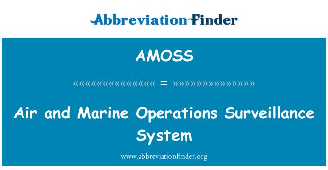 AMOSS: Õhu ja mere toimingute järelevalve süsteem