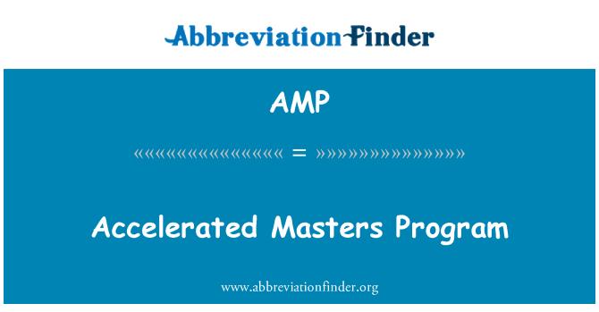 AMP: Accelerated Masters Program
