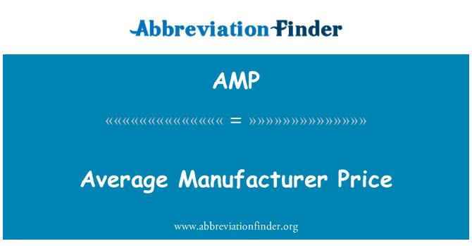 AMP: Average Manufacturer Price