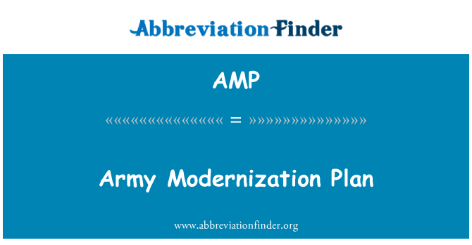 AMP: Army Modernization Plan