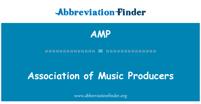 AMP: Association of Music Producers