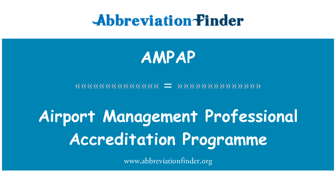 AMPAP: Airport Management Professional Accreditation Programme