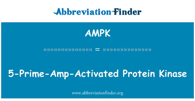 AMPK: Peaminister 5 Amp aktiveeritud proteiini kinaasi