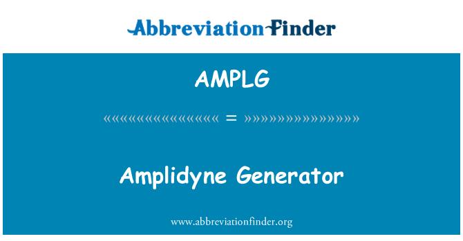AMPLG: Amplidyne Generator