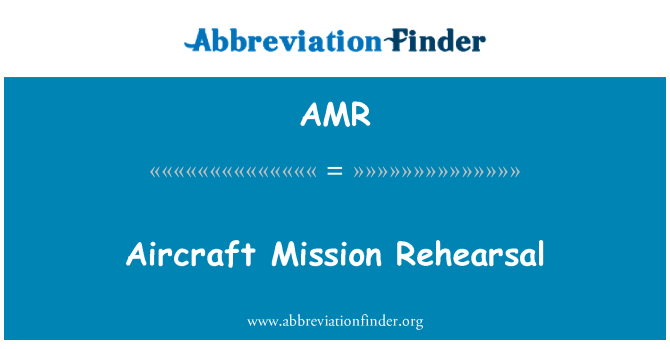 AMR: Aircraft Mission Rehearsal