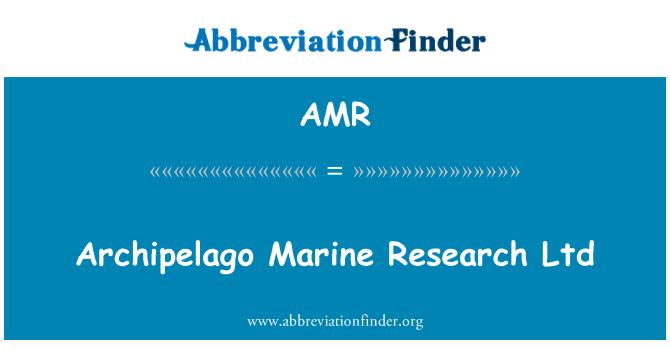 AMR: Archipelago Marine Research Ltd