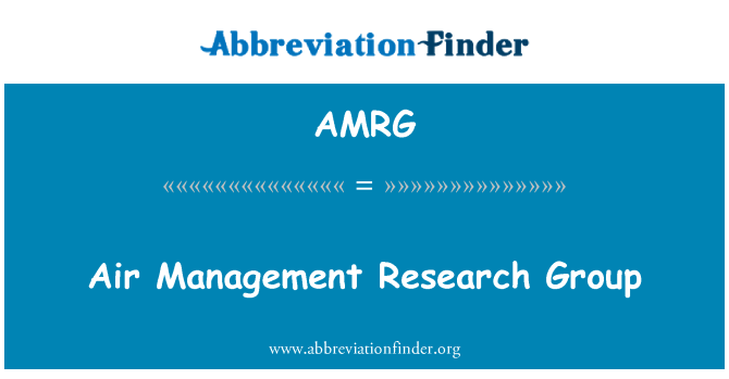 AMRG: Air Management Research Group