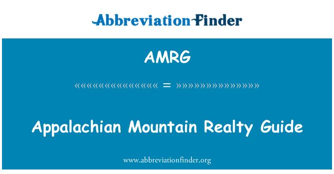 AMRG: Appalachian Mountain Realty Guide