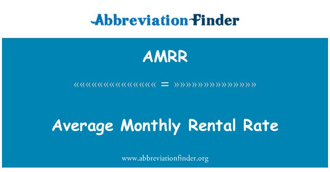 AMRR: Tarifa mensual promedio