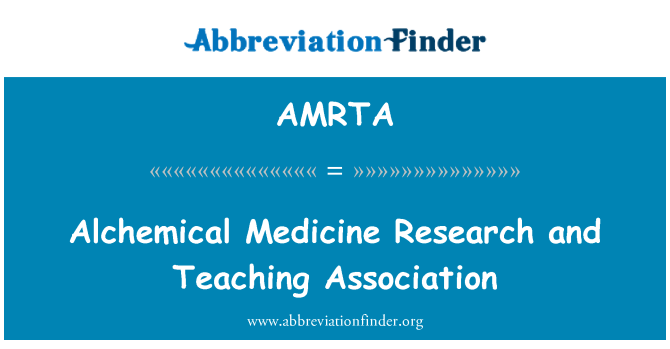AMRTA: Alchemical Medicine Research and Teaching Association