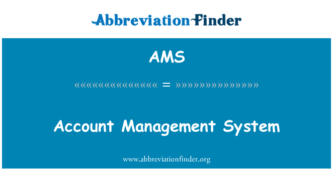 AMS: Account Management System