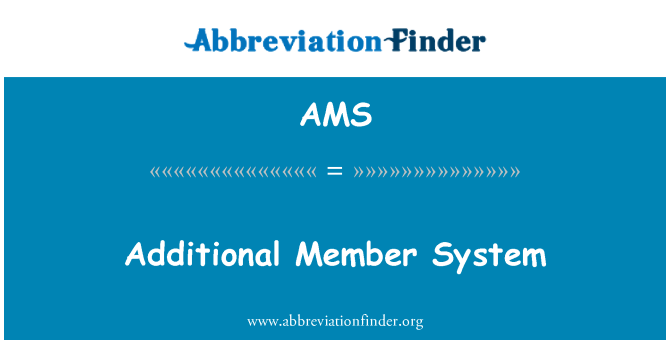 AMS: Additional Member System
