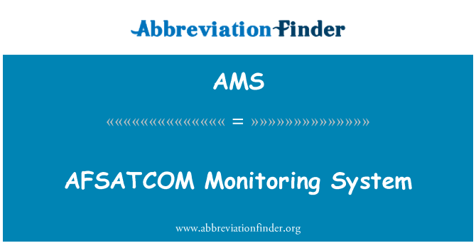 AMS: AFSATCOM Monitoring System