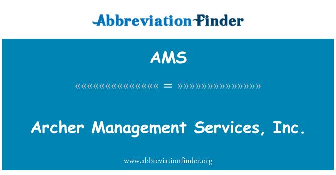 AMS: Archer Management Services, Inc.
