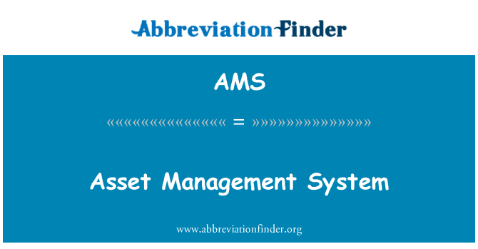 AMS: Asset Management System