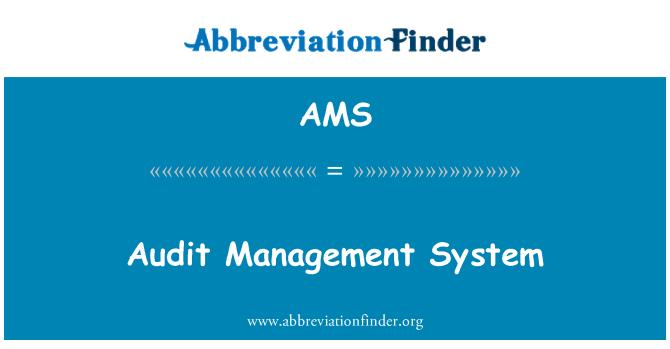 AMS: Audit Management System