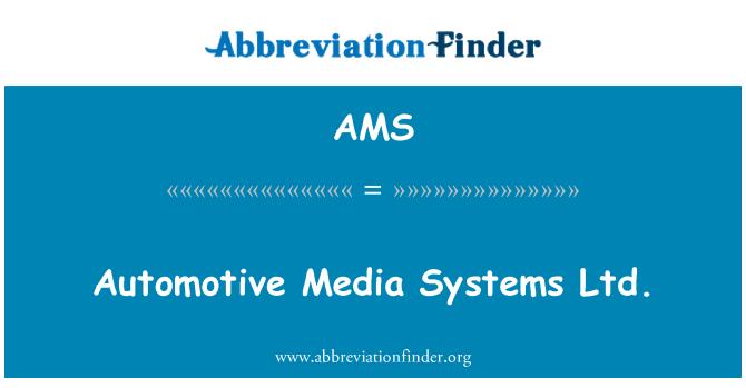 AMS: Automotive Media Systems Ltd.