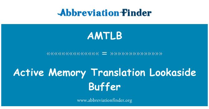 AMTLB: Active Memory Translation Lookaside Buffer
