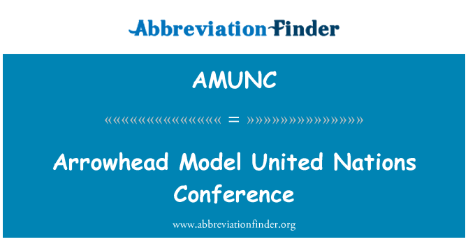 AMUNC: Arrowhead Model United Nations Conference