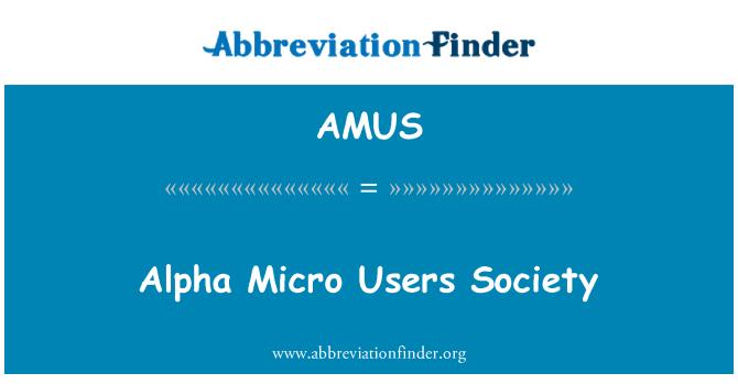 AMUS: Alpha Micro Users Society