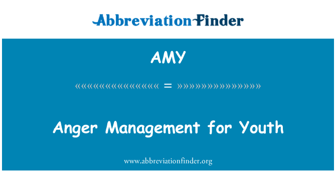 AMY: Anger Management for Youth