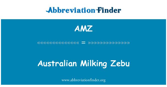 AMZ: Australian Milking Zebu