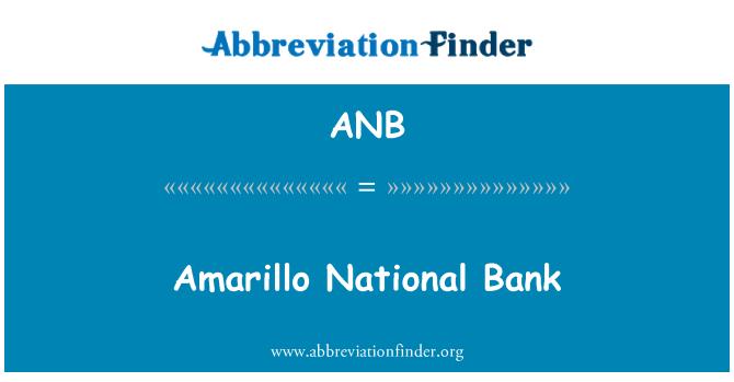 ANB: Amarillo National Bank
