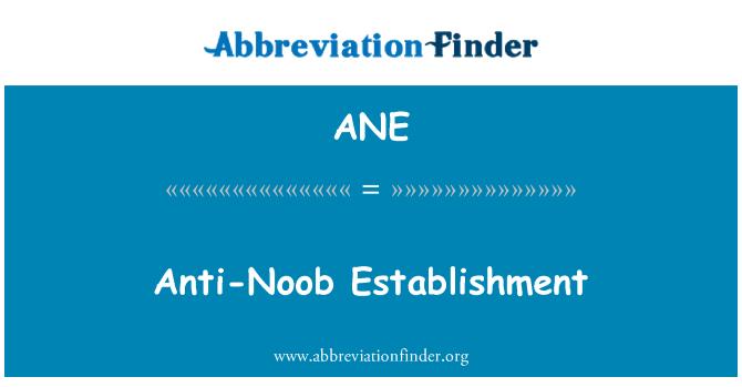 ANE: Anti-Noob Establishment