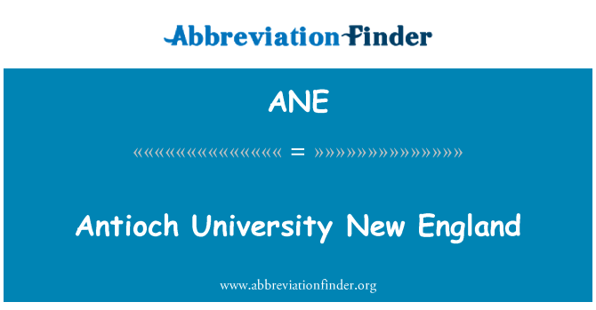 ANE: Antioch University New England