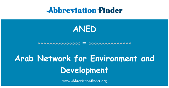 ANED: Arab Network for Environment and Development