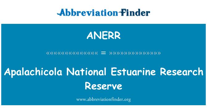 ANERR: Apalachicola National Estuarine Research Reserve