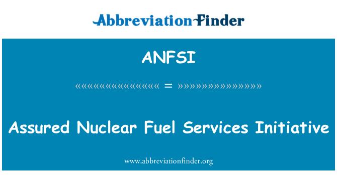 ANFSI: Osiguran nuklearnog goriva usluge inicijativa
