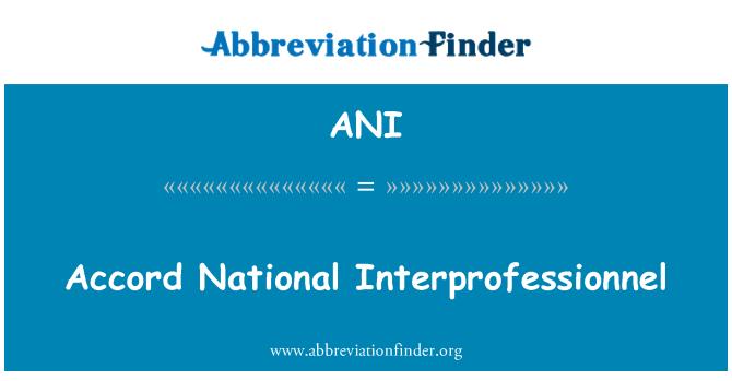 ANI: Accord National Interprofessionnel