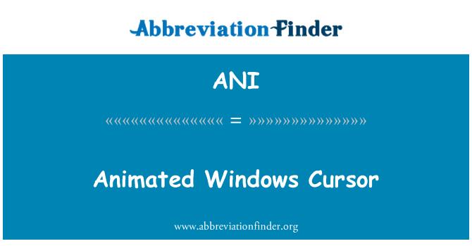 ANI: Animated Windows Cursor