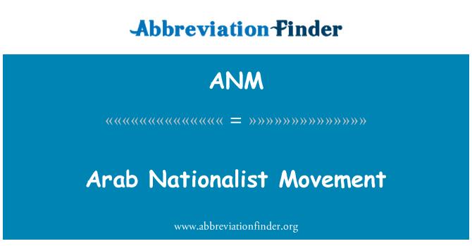 ANM: Arab Nationalist Movement
