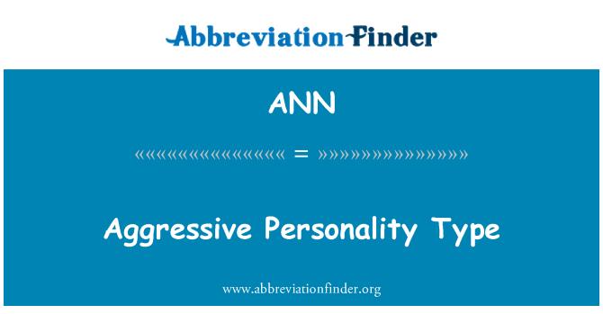 ANN: 攻击性人格类型